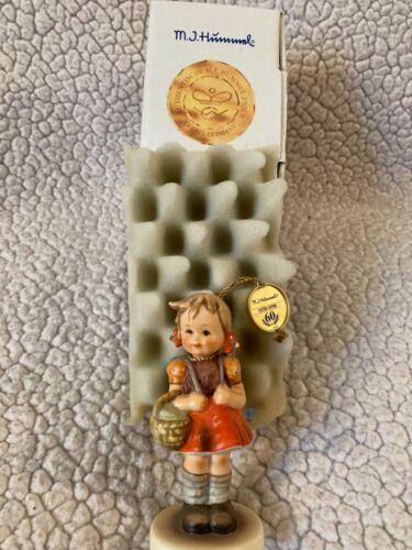 Vtg Hummel Goebel Figurine 81/2/0 School Girl (Erster Schulgang) 60th Ann. Boxed