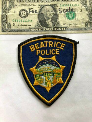 Beatrice Nebraska Police Patch Un-sewn great shape