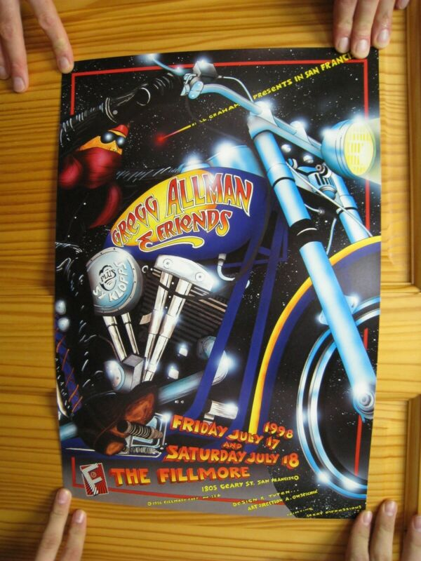 Greg Allman Poster Allman Brothers And Friends Fillmore July 17 1998