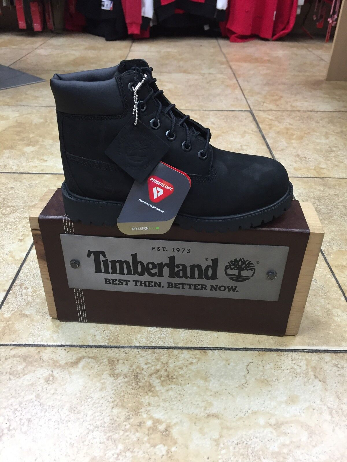 12807 TIMBERLAND BLACK KIDS INFANT 6-INCH CLASSIC WATERPROOF BOOT