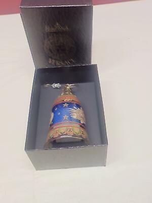 VERSACE CHRISTMAS ORNAMENT BELL ROSENTHAL  IN BOX RARE FIND