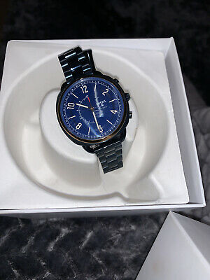 FOSSIL HYBRID SMARTWATCH - Q ACCOMPLICE NAVY BLUE STAINLESS STEEL