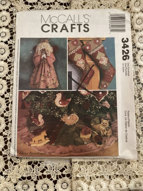 MCCALLS#3426  CHRISTMAS ORNAMENTS/ANGEL/STOCKING & MORE  CRAFT  SEWING PATTERN