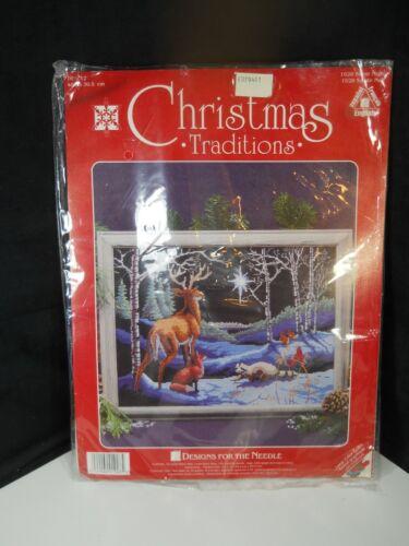 Christmas Traditions Silent Night Peaceful Wildlife Gazing Star Needle Art