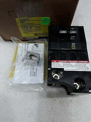 Qo2200 Square D 2pole 200amp 120240v Plug On Circuit Breaker New In Box