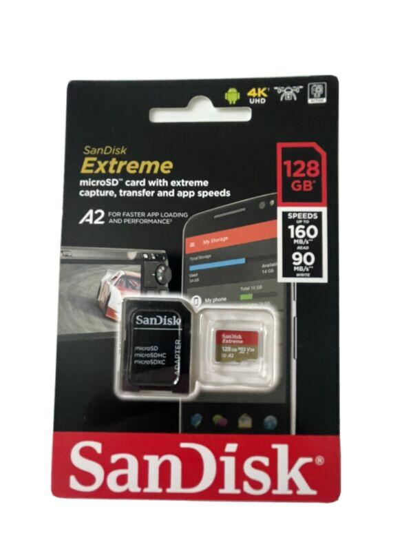 SanDisk Extreme Plus A2 128GB MicroSDXC UHS-I Memory Card
