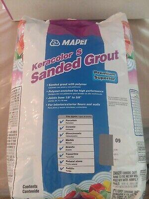 2 x Mapei Keracolor S 10lb Bag Sanded Grout - Gray Color 09 20lb Total