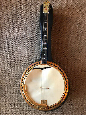 "Ludwig ""The Ace"" Tenor Banjo with Case 1930's?"