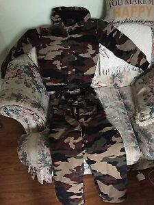 Boys camouflage snow suit