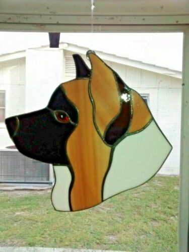 STAINED GLASS DOG - AKITA