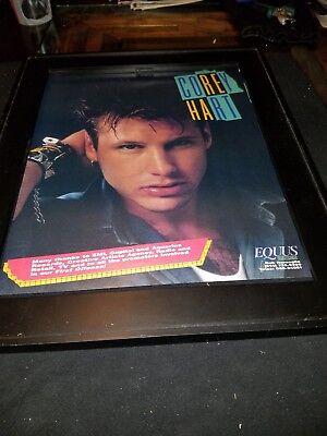 Corey Hart First Offense Rare Original Promo Poster Ad Framed!