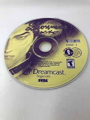 Shenmue Dreamcast Replacement Disc 3 ONLY Great if you've lost your third disc
