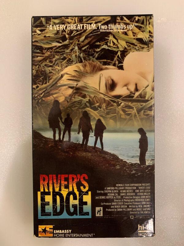 River's Edge VHS Tape Crispin Glover Dennis Hopper Keanu Reeves Nelson Embassy