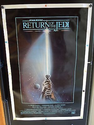 STAR WARS RETURN OF THE JEDI ORIGINAL ONE SHEET A ROLLED MOVIE POSTER 1983 ROTJ!