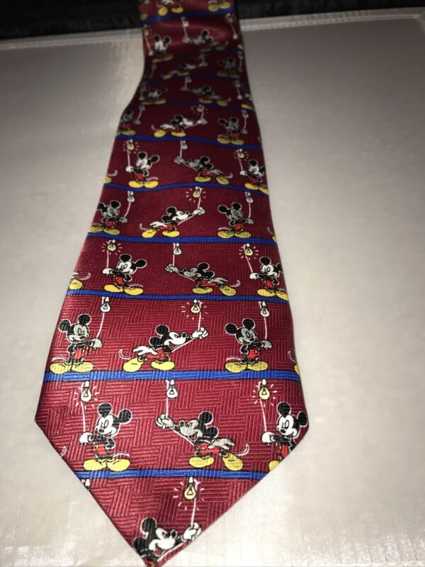 Mickey Unlimited Tie - Mickey Mouse Turning On Light