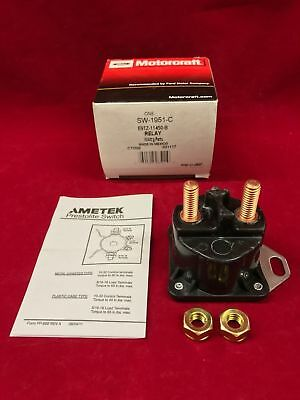 (New OEM Genuine Motorcraft Starter Solenoid Switch Relay Assembly SW-1951C)