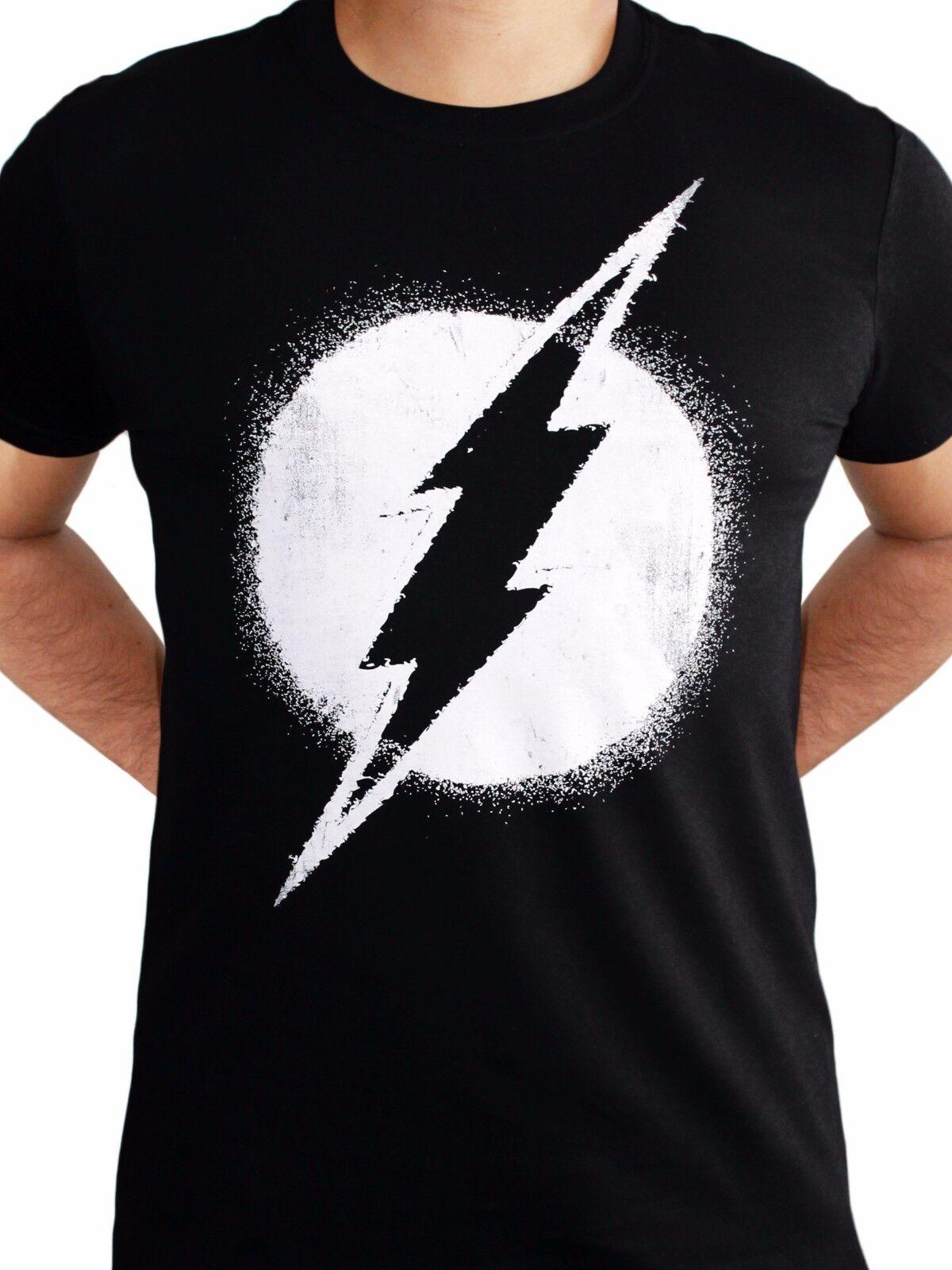 Superman logo symbole mono effet vieilli t-shirt licensed top noir s