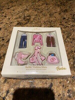 Barbie Fashion Minis Collection Hallmark Keepsake Christmas Ornaments - NEW