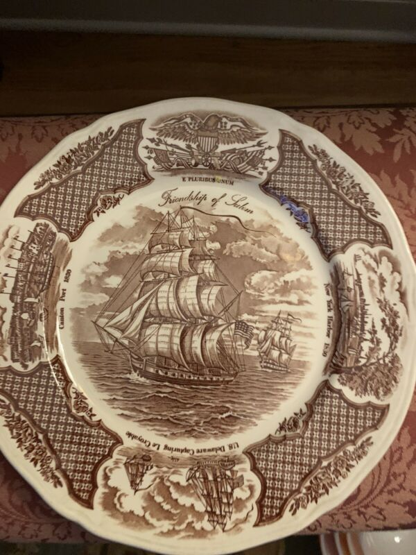 Six friendship of salem plate