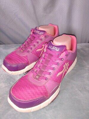 """Kuru """"Quantum"""" Womens Running purple pink Walking Casual Shoes Size 10.5 EUC"""