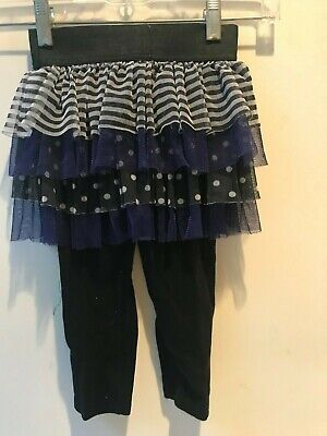Used, XHILARATION Girls Size 3T BLACK TIERED TULLE ONE PIECE SKIRT & LEGGINGS for sale  Fairfield