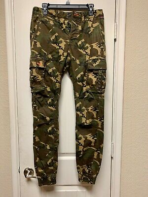 SUPERDRY Men Rookie Grip Cargo Pants Classic Army Camo - Small