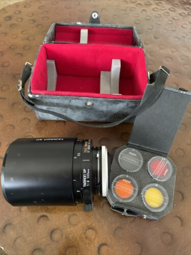Tamron SP 500mm Mirror 1 8 Tele Camera Lens Canon With Extras Case Adaptall - $99.99