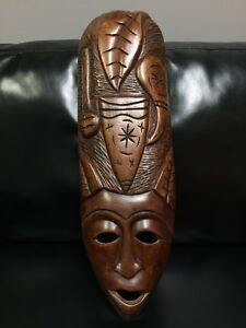 Wooden Tribal Hand Made Decorative Mask (Real Wood)