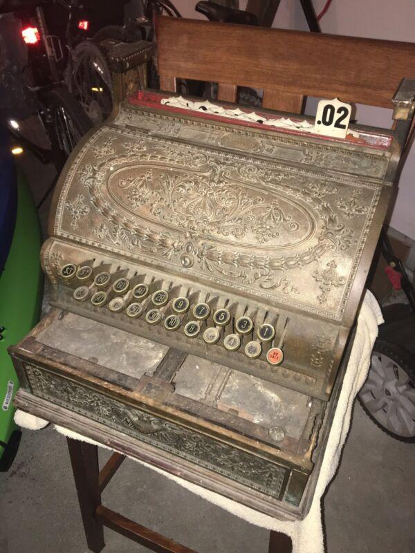 Works! Antique National Cash Register Model 332 Bronze (LOCAL PICKUP ONLY)