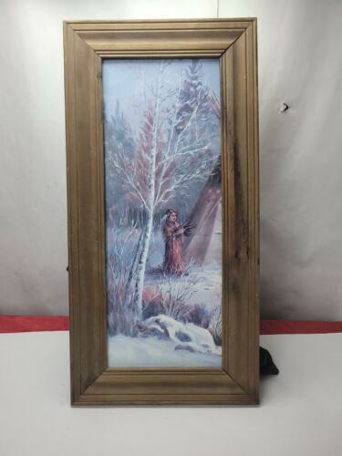 9x21 Framed picture of Sioux Girl