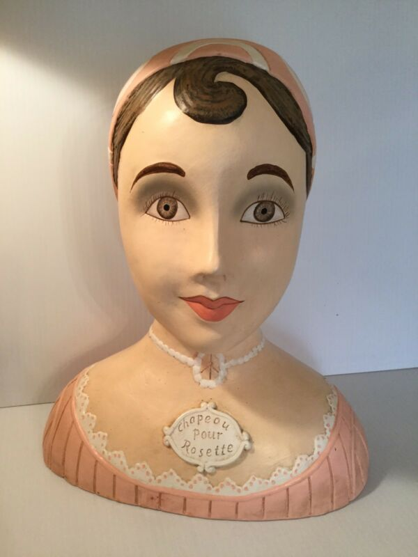 Vintage Handpainted French Mannequin Or Bust Very Unique