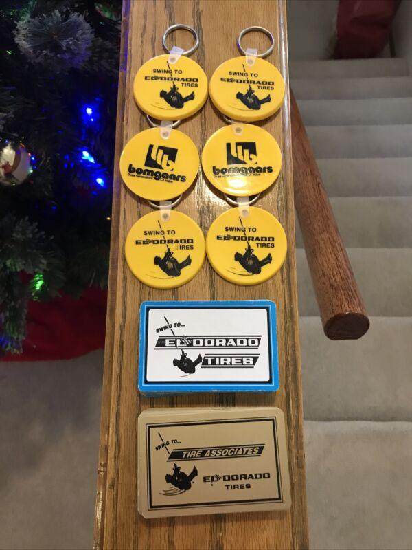 Eldorado Tire Advertising-6 Keychains & 2 Complete Decks Of Playing Cards