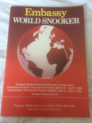Embassy World Snooker Championship 1989 Programme Rare Version
