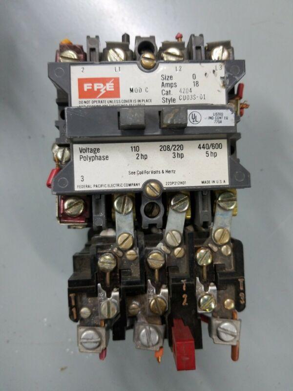FPE 4204, CU03S-01 Motor Starter
