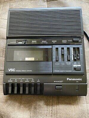 Panasonic Vsc Standard Cassette Transcriber Rr-830 With Panasonic Pedal Rp-2692