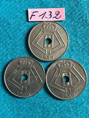 Belgique - Lot - Série complète de 3 x 10 centimes type Jespers