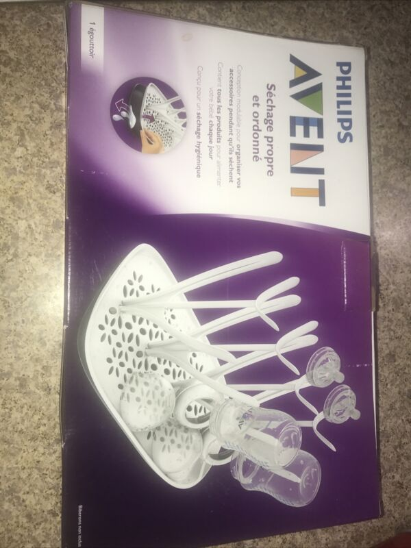 Philips Avent Clean And Tidy Drying Rack SCF149/00 White New