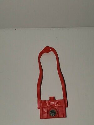 BARBIE DOLL ACCESSORY RED  & BLACK CAMERA W/ NECK STRAP for sale  Shipping to India