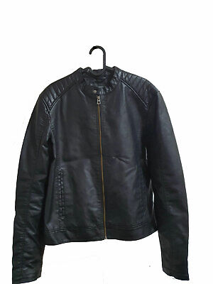'USED' Jack&Jones mens leather jacket in size Small