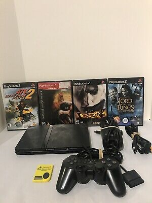 Sony PlayStation 2 SCPH-77001 Console Bundle Hookups Games Controller Tested
