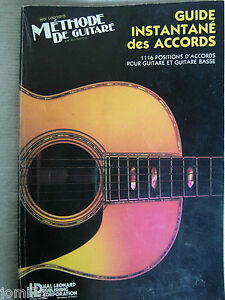 methode guitare et basse accords chords musicom formation musicale hal leonard ebay. Black Bedroom Furniture Sets. Home Design Ideas