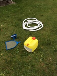 Pool cleaning materials with chlorine tank included