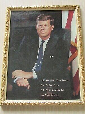 JFK 1961 PRINT WITH INAUGURAL SPEECH, 20 JAN 1961, ORIGINAL VINTAGE PRINT.