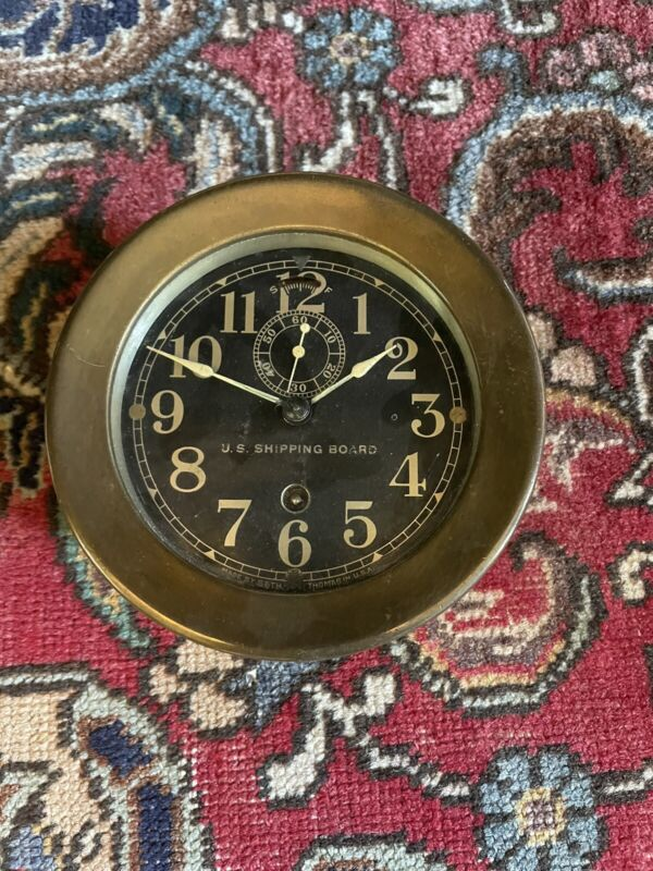 Seth Thomas US Shipping Board Clock Porthole Ship's Clock