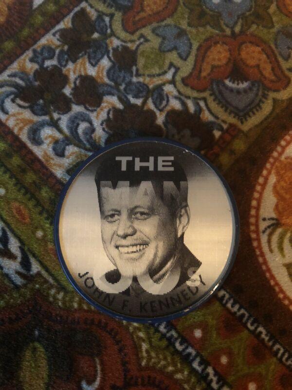 Vintage John F Kennedy Pin 60s President JFK Vari-Vue