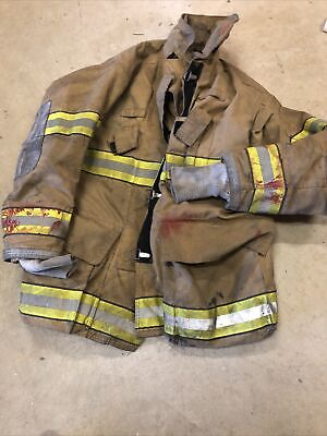 44x35 Globe Gxtreme Firefighter Turnout Jacket 2005 Good Condt Man Cave