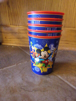 MICKEY MOUSE  5-PC  PLASTIC CUP SET  NEW](Mickey Mouse Plastic Cups)