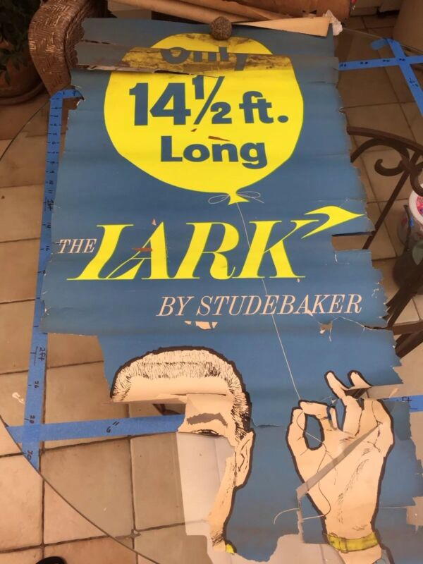 1959  1960 Studebaker Lark ORIGINAL Vintage Advertisement Poster Hawk