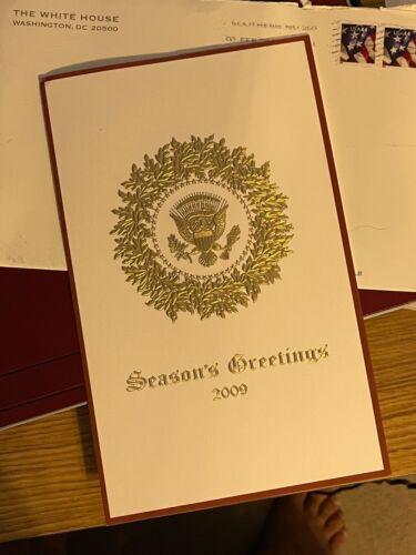 President Obama 2009 White House Christmas Card with envelope
