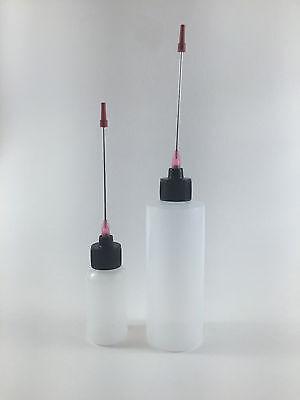 Plastic Squeeze Bottles 1oz 4oz 3 Applicators Liquid Flux Solder